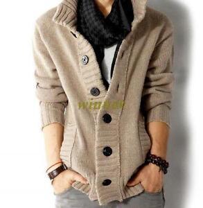 Mens-Knitted-Cardigan-Sweaters-Coat-Knitwear-Casual-Sweater-Outwear-Jacket-size