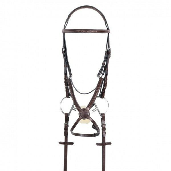 Ovation 8 RCS Padded Figure 8 Ovation Jumper Bridle Recessed Crown w Rubber Reins COB NEW 226278