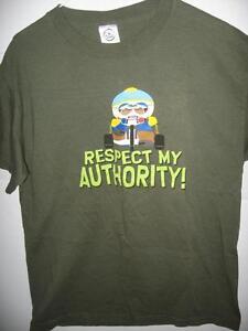 South park eric cartman respect my authority adult medium for Adult medium t shirt