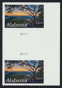 #5360 Alabama Statehood, Horizontal Gutter Par [3 ], Nuevo Cualquier 5=