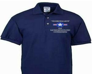 RAF CROUGHTON STATION UNITED KINGDOM USAF EMBROIDERED POLO SHIRT/SWEAT/JACKET.
