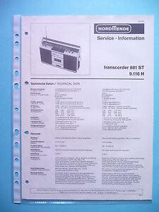 original Tv, Video & Audio Romantisch Service Manual-anleitung Für Nordmende Transcoder 881