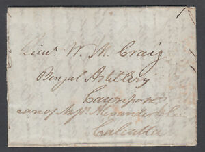 Great-Britain-1831-Stampless-to-CAUNPORE-INDIA-via-Calcutta-Forwarding-Agent