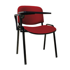 20 x Sedia con ribaltina scrittoio tavoletta ROSSA sedie attesa conferenza corsi