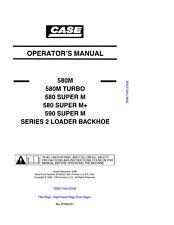 case 580m 580 super m m turbo 590 series 2 loader backhoe service rh ebay com Case 590 Super M Backhoe Case 590 Backhoe