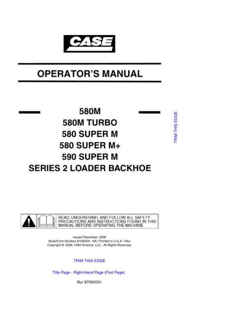 case 580m 580 super m m turbo 590 series 2 loader backhoe service rh ebay com case 580k backhoe operators manual case 580d backhoe operators manual pdf