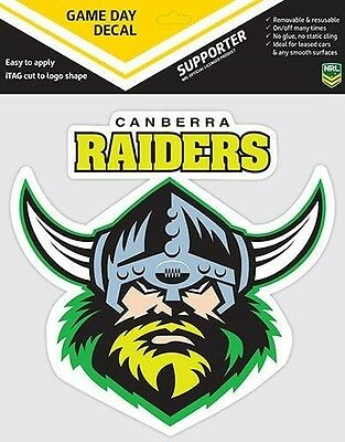 NRL Canberra Raiders LOGO Car Sticker Stickers Sheet Christmas Birthday Gift