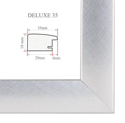 DELUXE35 Bilderrahmen 100x66 cm oder 66x100 cm Foto//Galerie//Posterrahmen