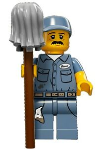 LEGO Minifigures Series 15 Janitor - cleaner with mop - suit city set