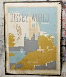WALT DISNEY WORLD est.1965 Handmade Disney World vintage sign