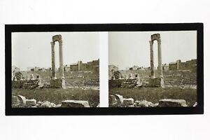 Arles-Ruines-Antiche-Francia-Foto-C25-Stereo-Placca-Da-Lente-Vintage-1928