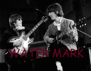 The Beatles John Lennon George Harrison Playing Guitar Publicity Photo Ebay