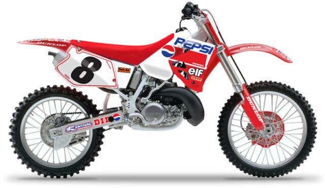 Kit de gráficos de Pepsi Honda CR 125 1995 - 1997 CR 250 95 - 1996 Motocross