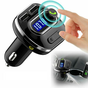 Wireless-Bluetooth-Auto-Handsfree-Car-AUX-Audio-Receiver-FM-Adapter-USB-Charger