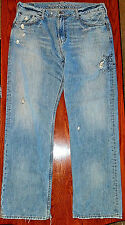 American Eagle - LOW & LOOSE Blue Jeans - Men Size 36 x 34-Distressed Jeans