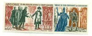 ANDORRA FRENCH #159-60, Mint hinged, Scott $36.00