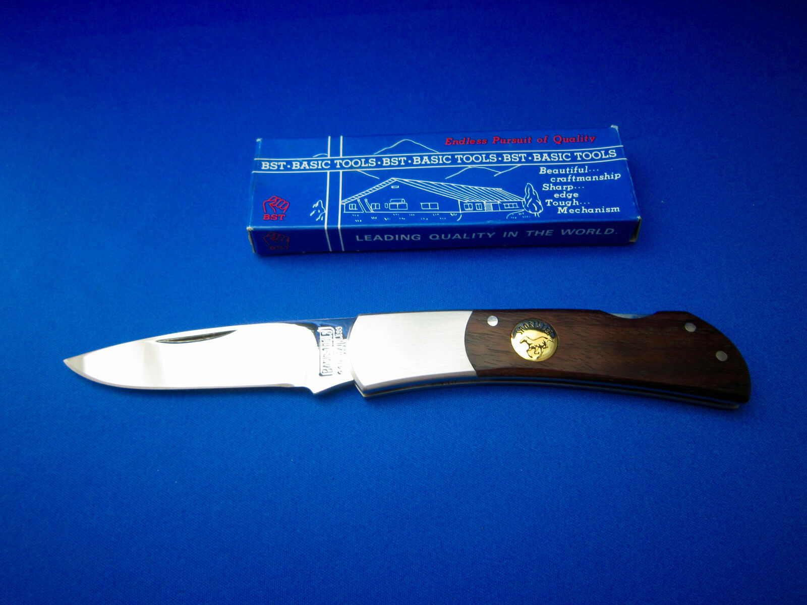 BST SPORTSTER VTG LARGE Folding Folding LARGE Knife Made In Japan UNUSED IN MINT CONDITION  2 b3cb7b