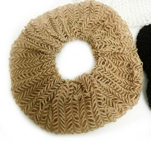 3 Large scrunchie set Scrunchy Lace Crochet effect Black white Beige xx