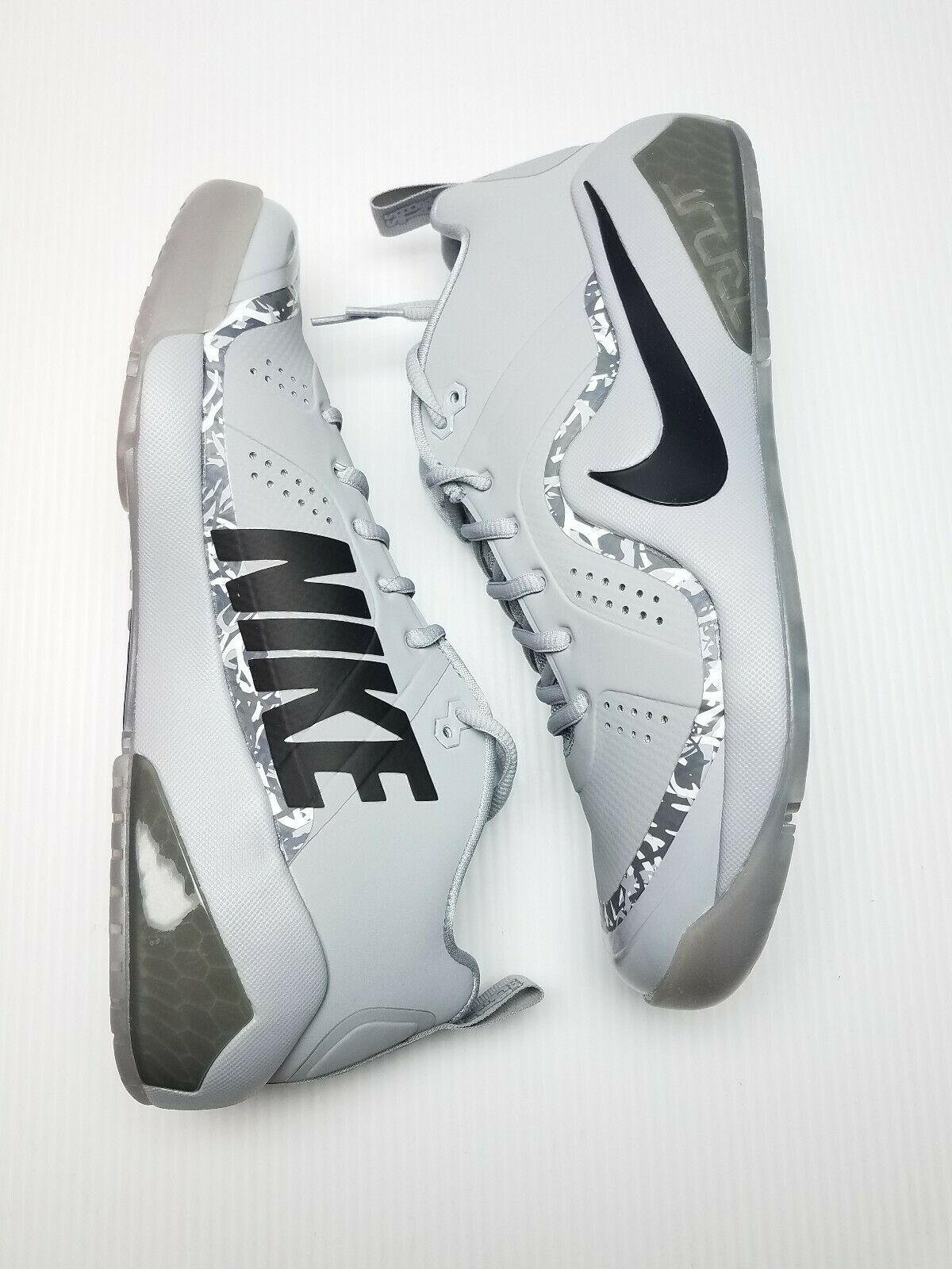 New Nike Force Zoom Trout 4 Turf Baseball shoes Mens Mens Mens Size 8.5 Wolf Grey Black 28d9c4