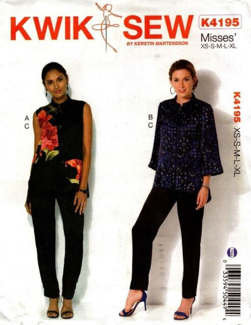 Kwik Sew Sewing Pattern K4195 4195 Womens Tops Jacket Pants Size XS-S-M-L-XL