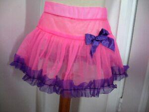 Pink Purple frilly tutu skirt Party Gift Rock Baby girls Princess Barbie 12-18 M