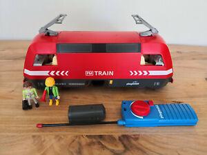 Playmobil-RC-Lok-Diesellok-aus-4010-mit-Licht-Batteriekasten-Super