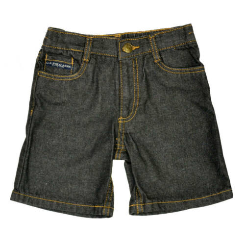 US POLO ASSN 2 PIECE SET RED SHIRT AND BLUE DENIM SHORTS from 12-24m EX