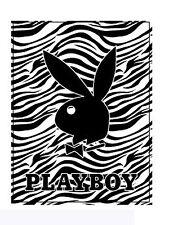 Black Zebra PlayBoy Plush Blanket - PLAYBOY Comforter (Queen Size)