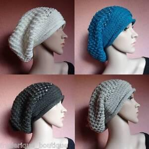 Bonnet-Long-tombant-avec-strass-amp-pompon-mode-Chapeau-Look-Tendance-Hat-Falling
