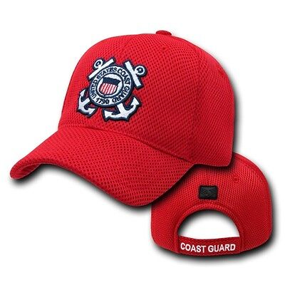 3ce049f3 Red United States Coast Guard USCG Air Mesh Military Baseball Cap Hat Caps  Hats