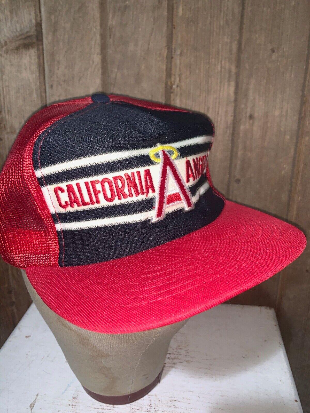 VINTAGE 80s Rare California Angels Red MLB Baseba… - image 7