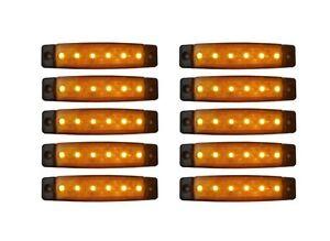 10-x-LED-12V-E9-BEGRENZUNGSLEUCHTE-UMRISSLEUCHTE-LKW-POSITIONSLEUCHTE-ORANGE