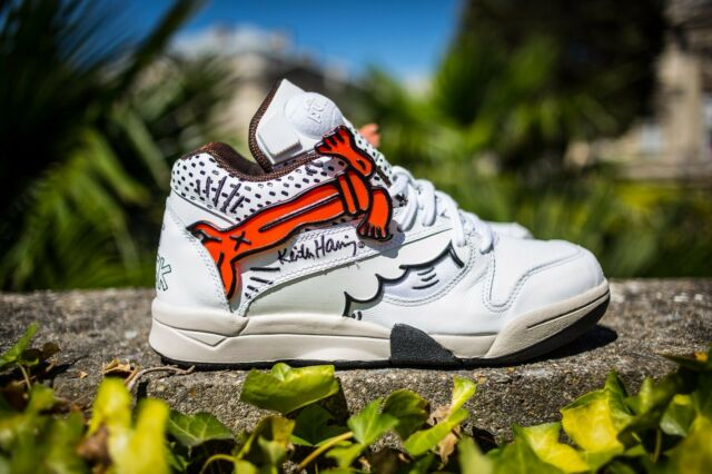 REEBOK LIMITED MENS SHOES X KEITH HARING PUMP CRACK IS WACK QUESTION M40330 NEW