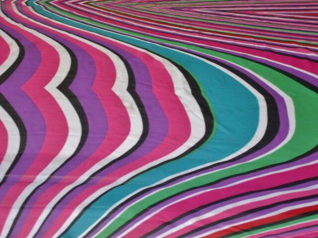 CHIFFON PRINT-LARGE BRIGHT GEOMETRIC SWIRLS-MULTIBRIGHT-DRESS FABRIC-FREE P&P