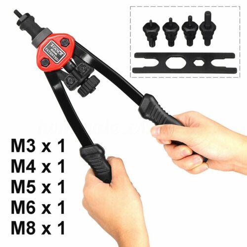 M3-M8 Riveter Tools Set Nut Riveting Kits Rivnut Nutsert Insert Accessories