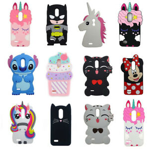 newest 5711e bbe95 Details about Cute 3D Unicorn Cartoon Silicone Case Cover Skin For LG  Tribute Dynasty Aristo 2