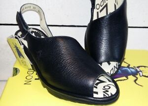 Leather Black Wedge Fly Platform Ladies London Peep Palp Toe Sandals 8qftPtBIn