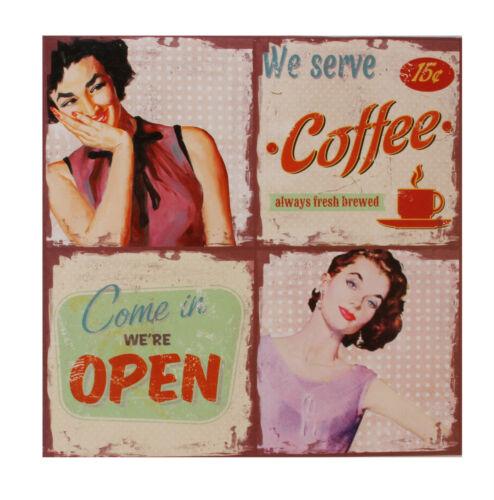 open 50/'s diner à thèmes Toile Art Mural Café pk56602 crème glacée Café