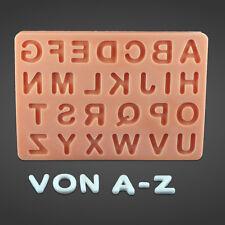 Silikonform Silikon Mould Fondant Tortendeko Alphabet Buchstaben A bis Z