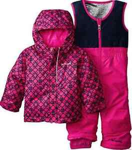 4c2ceff25546 NEW COLUMBIA BUGA SET SNOWSUIT SET BABY GIRL 6-12 MONTH 2 PIECE WARM ...