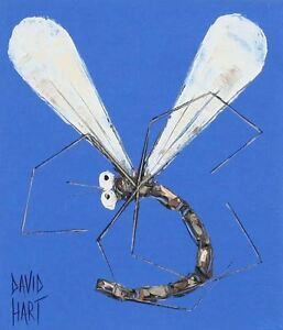 David-HART-Blue-Dragonfly-Acrylic-on-paper