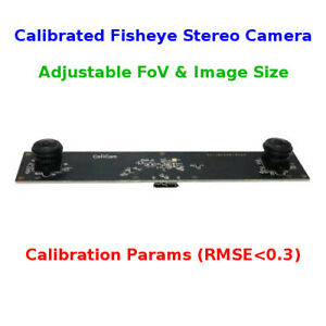 Details about CaliCam Fisheye Stereo Camera, Calibrated Depth Sensor,  Dynamic FoV & Image Size