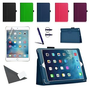 Slim-Fit-Portafoglio-in-pelle-Tipo-Supporto-Custodia-Cover-per-Apple-Ipad-Mini-4