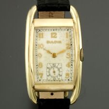 Bulova Slimline Rolled Gold Plated Manual Wind Wristwatch Date Window 11-e7694 Jewelry & Watches Other Watches