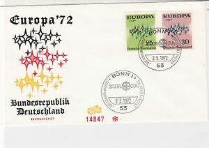 germany 1972 europa stamps cover ref 20263