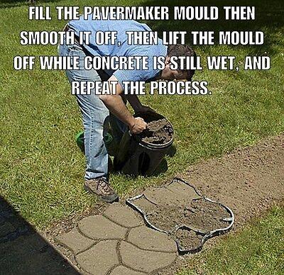 TWO CRAZY PAVER big 60x50x4cm moulds for DIY concrete walkmaker paths patios