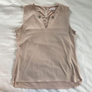 Calvin Klein Ladies Blouse Sleeveless Tank Top Medium Pink