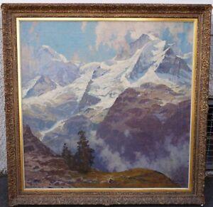Erich-Mercker-1891-1973-Blick-auf-Jungfrauenmassiv-Berner-Oberland-Schweiz