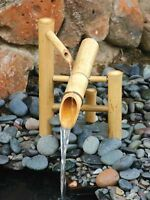 Garden Water Fountain W/ Submersible Pump Kit - Handcrafted Sturdy Convenient