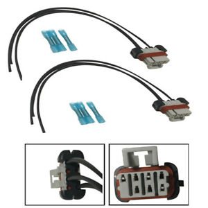 image is loading 2-x-headlight-wiring-harness-connector-pigtail-for-
